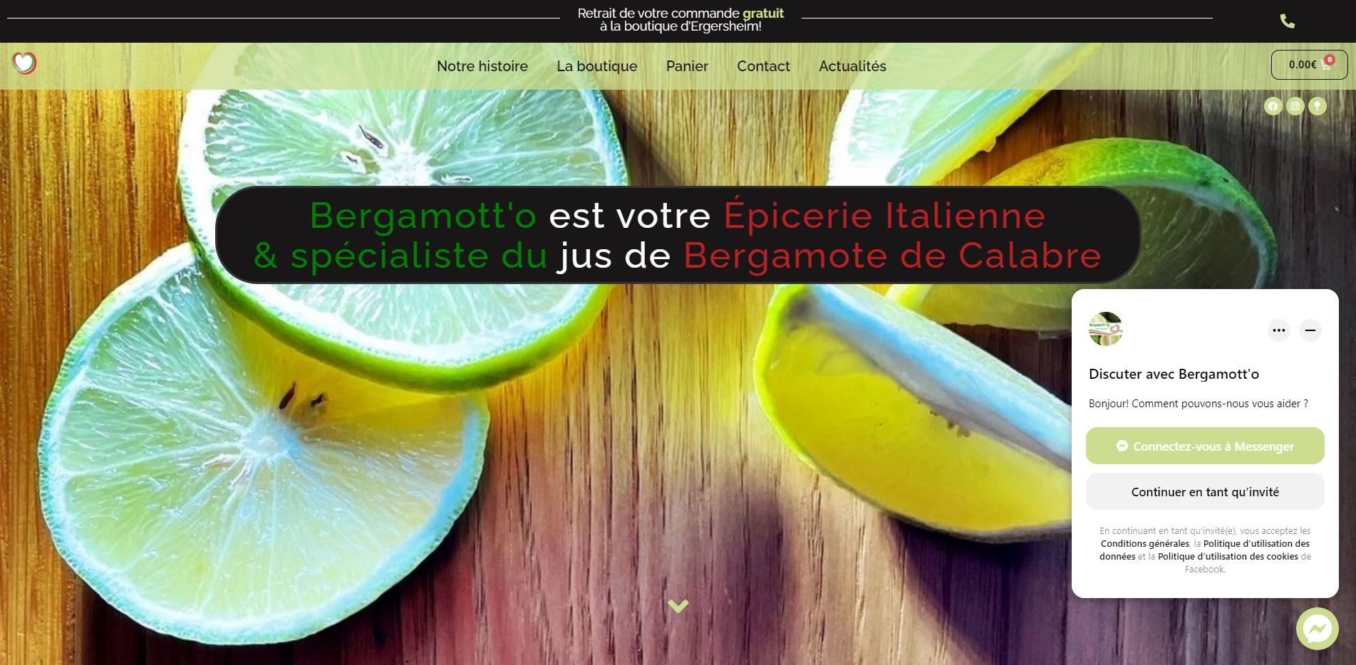Bergamott-o image du Site E-Commerce