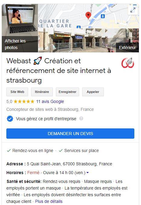 fiche google my business seo agence webast