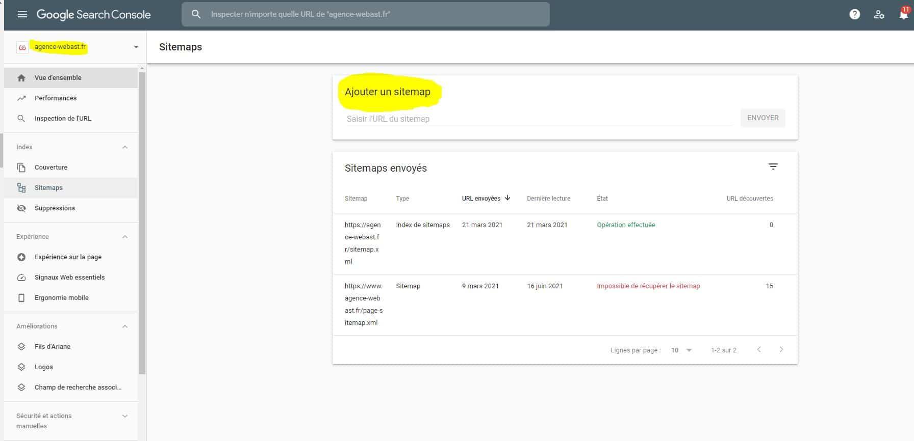 Utilisez un plan de site XML pour indexer sur google