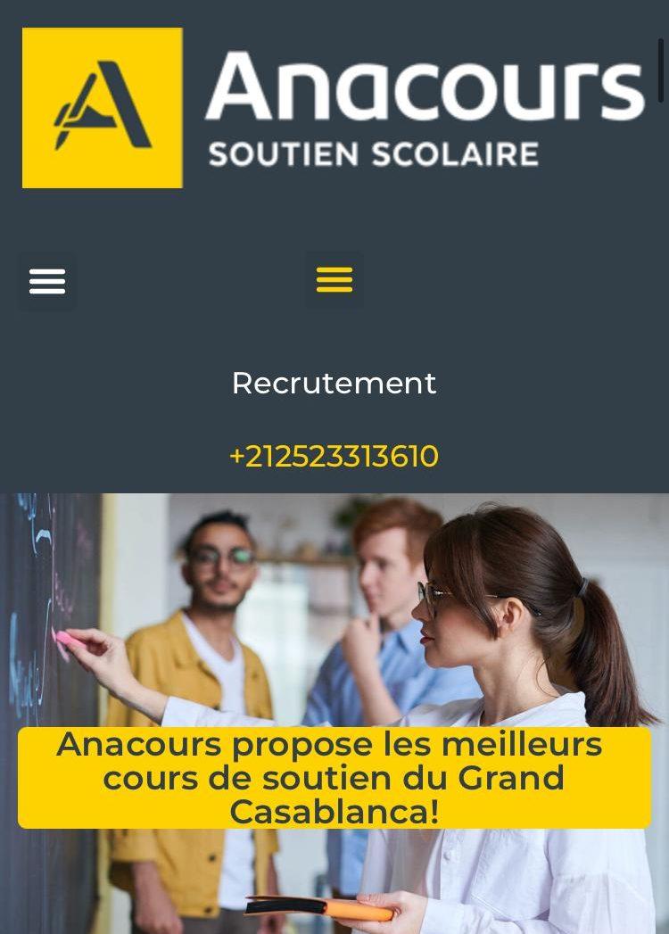anacours site web
